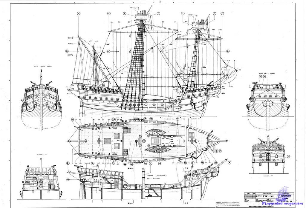 Как сделать фрегат своими руками чертежи и описание 84